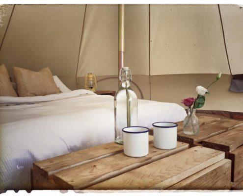 Inside a Hel's Bell Tent